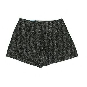 Old Navy Black Marled Tweed High Rise Shorts Sz 0